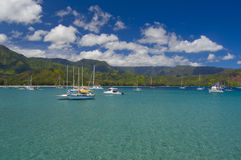 Hanley Bay Marina in Kauai Royalty Free Stock Photography