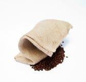 Hanmade袋子由丝兰和咖啡豆制成 库存照片
