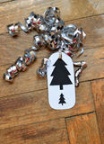 Hanmade christmas gift tag Royalty Free Stock Images