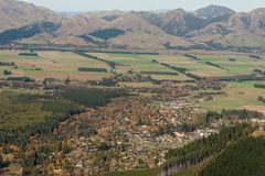 Hanmer Springs seen from Mt Isobel Royalty Free Stock Images