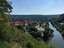 Hann. Münden Lower Saxony, Germany Confluence of the Fulda an royalty free stock photography