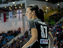 Hanna Yashchuk, handball player of Pogon Baltica Szczecin royalty free stock images