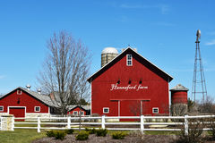 Hannaford Farm Sugar Grove, Illinois. Hannaford Farm in Sugar Grove, Illinois. This is the farm that is at the entrance to Hannaford Farm subdivision royalty free stock photo