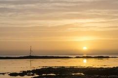 Hannafore punktu Looe Cornwall wschód słońca Fotografia Stock