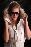 Hannah atractiva en chaqueta de esquí Imagen de archivo libre de regalías