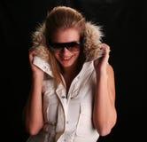 Hannah atractiva en chaqueta de esquí Fotografía de archivo libre de regalías