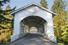 Hannah Covered Bridge in Oregon Royalty Free Stock Photo