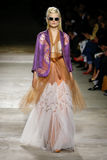 Hanne Gaby Odiele walks the runway during the Dries Van Noten show Royalty Free Stock Photos