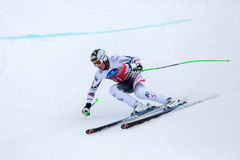 Hannes Reichelt second place Fis world cup Bormio 2013 Royalty Free Stock Photography