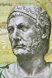 Hannibal Barca portrait. From Tunisian money royalty free stock photos