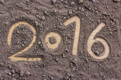 2016 hanno fatto da suolo Concetto 2016 del nuovo anno Fotografia Stock Libera da Diritti