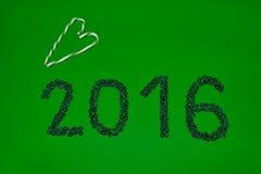 2016 hanno fatto dai chicchi di caffè Fotografie Stock