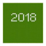 2018 hanno tricottato il verde Fotografia Stock