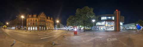 Hannover. 360 Degree Panorama. Royalty Free Stock Image