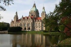 здание муниципалитет hannover стоковые изображения