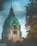 Tower of Hannover city hall during autumn royalty free stock photo