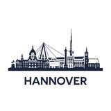 Hannover City Skyline Stock Photography