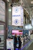 Hannover, Germania - 13 giugno 2018: Due impiegati di itWatch fotografie stock libere da diritti