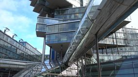 Hannover, Germany - December 04, 2017: Administrative building Nord Landesbank Nord LB in Hannover. stock video