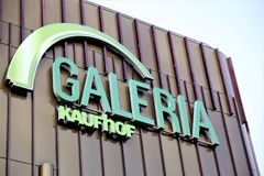 Hannover/Germany - 11/13/2017 - An Image of a Galeria Kaufhof Logo. Abstract stock photography