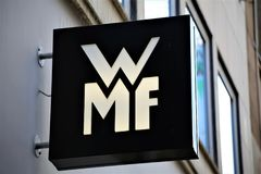Hannover/Germany - 11/13/2017 - An Image of a WMF Logo. Abstract Royalty Free Stock Photo