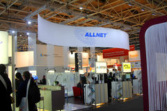 Stand of Allnet in CEBIT computer expo Royalty Free Stock Photography