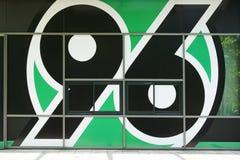 Logo of German bundesliga football or soccer club Hannover 96 Royalty Free Stock Photo