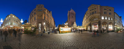 HANNOVER, GERMANY - NOVEMBER  29, 2011: Traditional Christmas market in old Hannover. Stock Photos