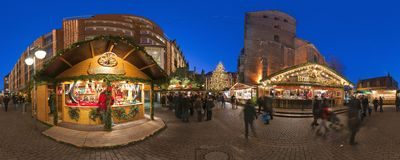 HANNOVER, GERMANY - NOVEMBER  29, 2011: Traditional Christmas market in old Hannover. Stock Images