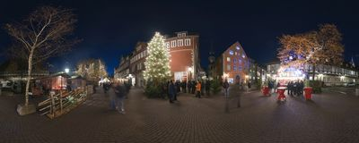 HANNOVER, GERMANY - NOVEMBER  29, 2011: Traditional Christmas market in old Hannover. Royalty Free Stock Photography