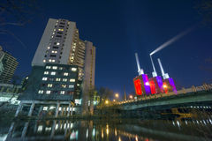 Hannover and Ihme river at evening Royalty Free Stock Images