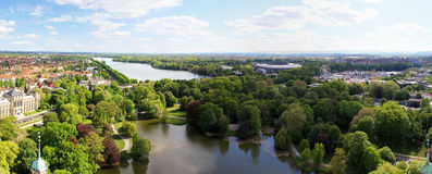 Hannover lake. Aerial view of lake and park in Hannover Stock Photo