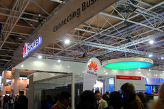 Stand of Huawei at CEBIT computer expod's largest compu Royalty Free Stock Photography