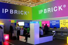 Stand of IP Brick on the CEBIT computer expo Stock Photos