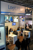 Stand of Logilink on March 9, 2013 at CEBIT computer expo Royalty Free Stock Images