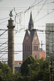 Hannover Marktkirche and Waterloo column Stock Photography