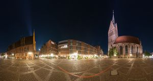 Hannover. Marktplatz. 360 Degree Panorama. Stock Photos