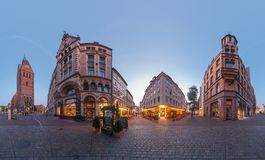 Hannover. Marktplatz. Un panorama di 360 gradi. Fotografia Stock