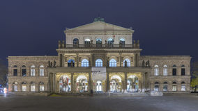 Hannover Opera House at Night Stock Images