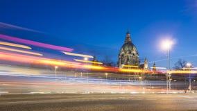 Hannover på aftonen Fotografering för Bildbyråer