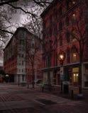 Hannover-Quadrat nachts Stockfotos
