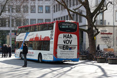 Hannover-Sightseeing-Tour-Bus Stockbild