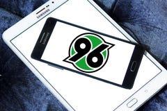 Hannover 96 soccer club logo. Logo of german hannover 96 club on samsung mobile Royalty Free Stock Photos