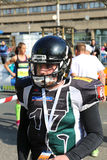 Hannover Spartans American Football team player posing at Hannover Marathon Stock Photography