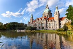 Hannover stadshus Arkivbild