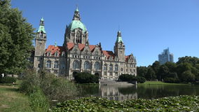 Hannover stadshus Neues Rathaus stock video