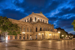 Hannover State Opera in the evening Royalty Free Stock Photos