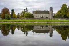 Hannover Tyskland - November 21, 2016: gammal medeltida slott i Tyskland Royaltyfria Foton
