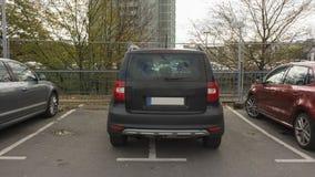 HANNOVER TYSKLAND - OKTOBER 15, 2014: Dålig parkering Arkivfoton