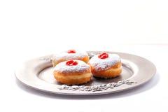 Hannuka标志油炸圈饼 库存图片